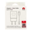 Image de Huawei Fast Charger AP32 avec câble micro-USB blanc