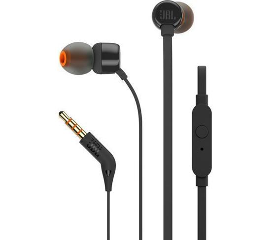 Image de Écouteurs intra-auriculaires JBL T110 avec microphone noir