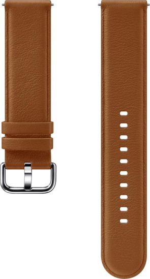 Image de SLR82MAE Bracelet en cuir Renaissance pour Galaxy Watch Active 2, marron