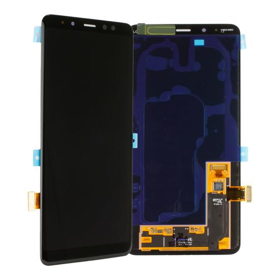 Image de Unité d'affichage pour Samsung Galaxy A8+ 2018 A730, noir