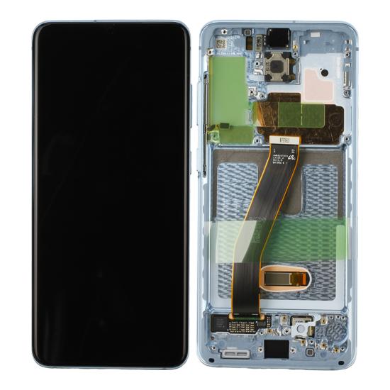 Image de Unité d'affichage pour Samsung Galaxy S20 G980F / S20 5G G981F, Cloud Blue
