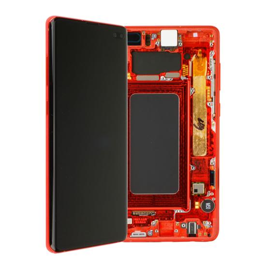 Image de Unité d'affichage pour Samsung Galaxy S10 + G975, rouge