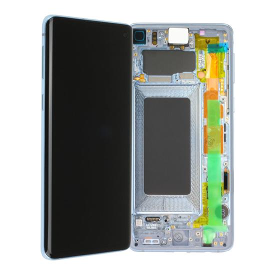 Image de Unité d'affichage pour Samsung Galaxy S10 G973, Prism Blue