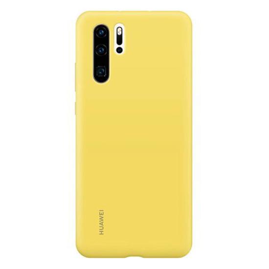 Image de Coque en silicone d'origine Huawei Jaune pour Huawei P30 Pro