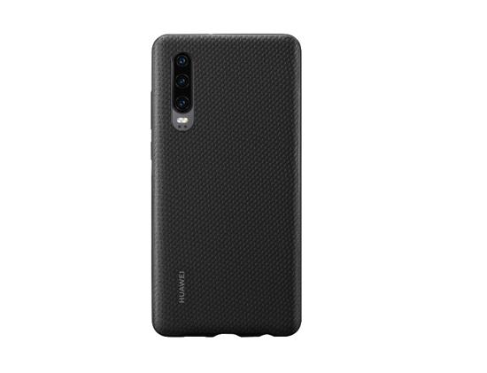 Image de Coque Huawei d'origine en PU noir pour Huawei P30