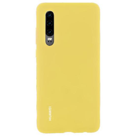 Image de Coque Huawei d'origine en silicone jaune pour Huawei P30