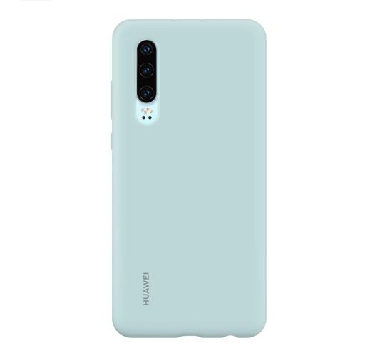Image de Coque Voiture Silicone d'Origine Huawei Bleu Clair pour Huawei P30