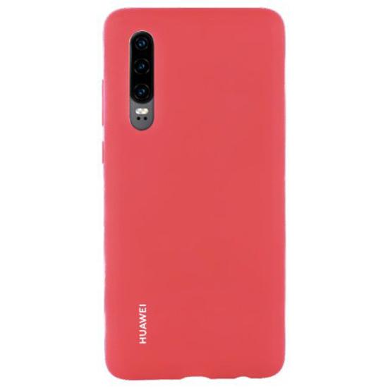 Image de Coque Huawei d'origine en silicone rouge pour Huawei P30