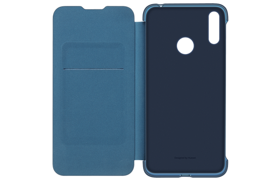 Image de Étui Folio d'origine Huawei pour Y7 2019 Bleu