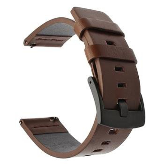 Image de Bracelet Tactical 600 en Cuir pour Huawei Watch GT2 42mm Marron