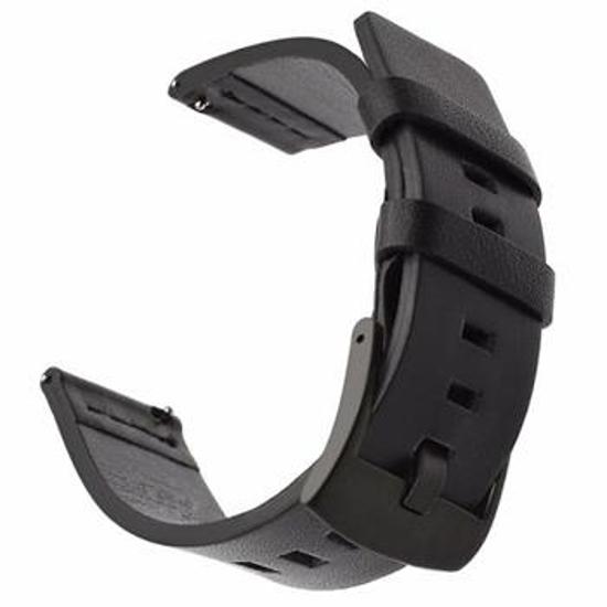 Image de Bracelet Tactical 598 en Cuir pour Huawei Watch GT2 42mm Noir