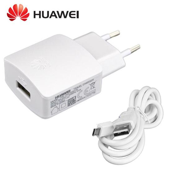 Bild von HW-050200E3W Huawei USB-Reiseladegerät + microUSB-Datenkabel Weiß (Bulk)