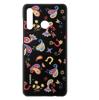 Image de Coque Huawei - Design PC Floral noir pour Huawei P30 Lite