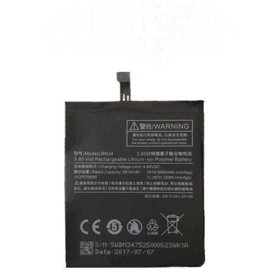 Image de Batterie d'origine BN34 Xiaomi 3000mAh