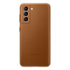 Image de Samsung Housse en cuir EF-VG991 pour Galaxy S21, marron